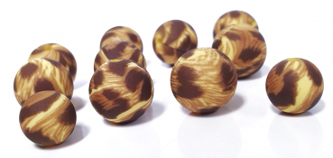 "Leoprint ""goldgelb"" Silikon Perlen 12mm/15mm"